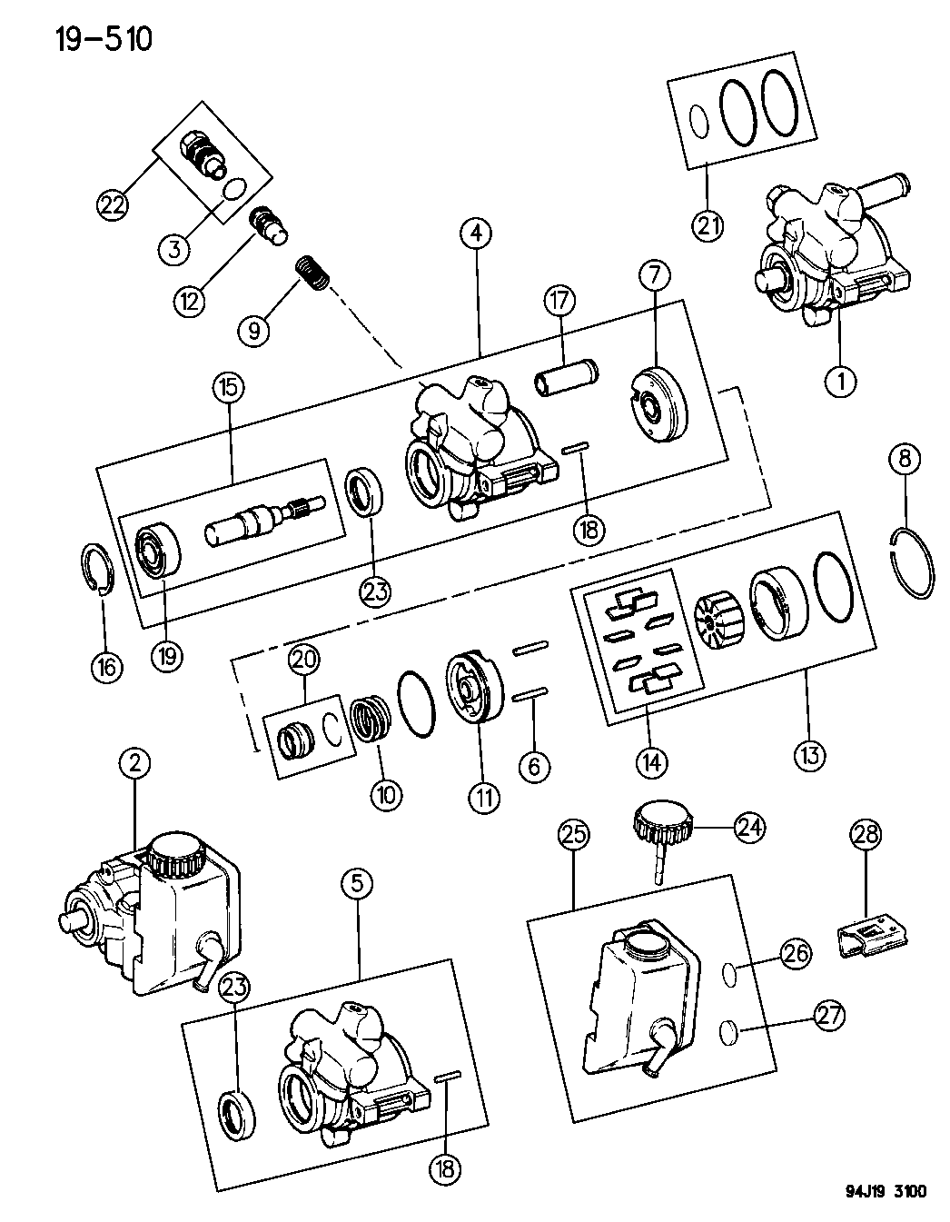 diagram of 1995 jeep wrangler transfer case on