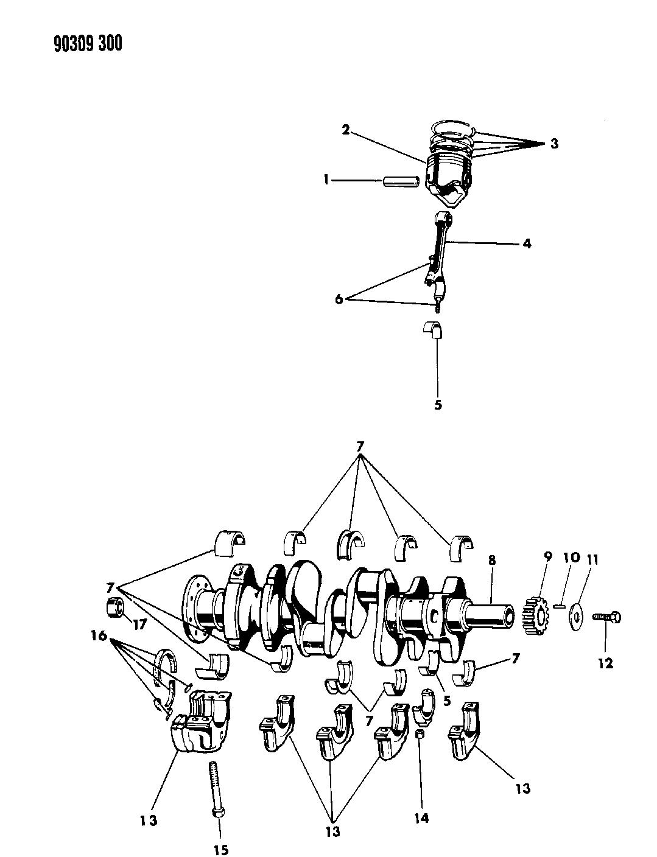 1991 Dodge Ram Van Crankshaft, Pistons And Torque Converter