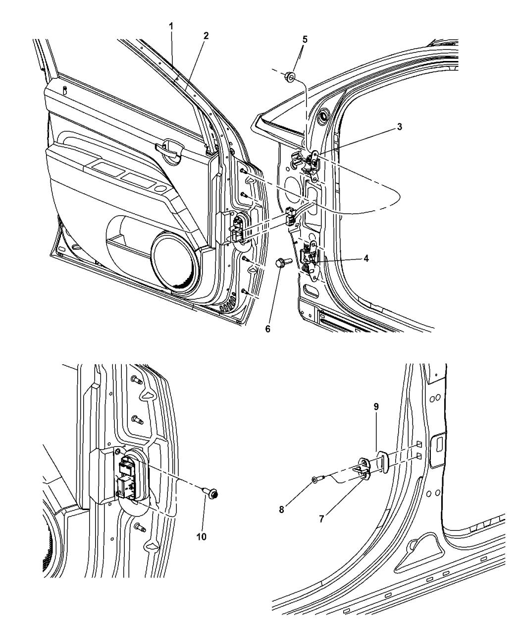 2014 jeep compass front door  shell  u0026 hinges