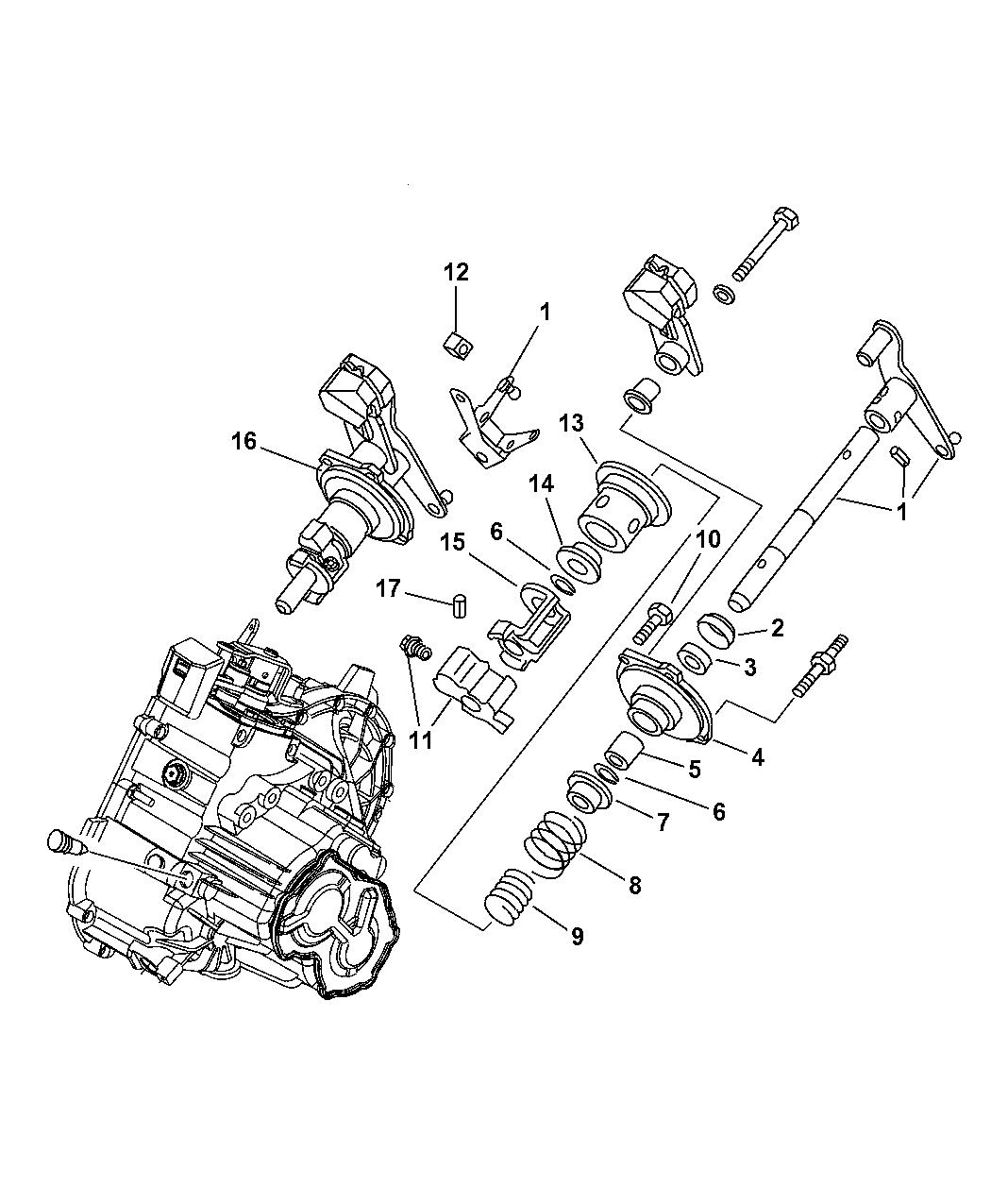 2009 Chrysler Pt Cruiser Shift Fork Rails Mopar Parts Giant Engine Diagram