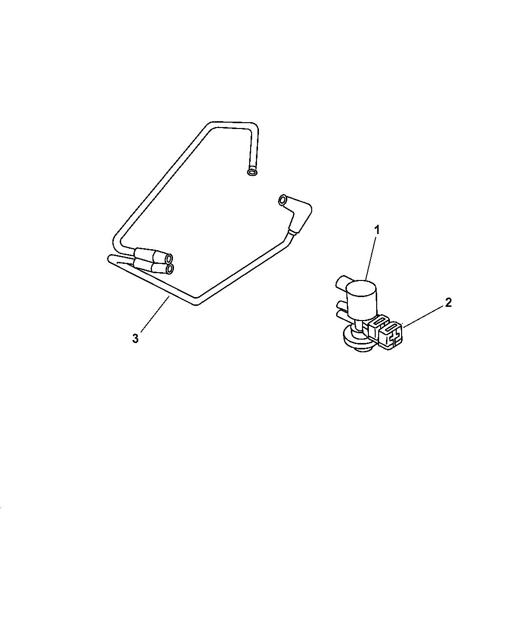 1997 Jeep Wrangler Emission Control Vacuum Harness