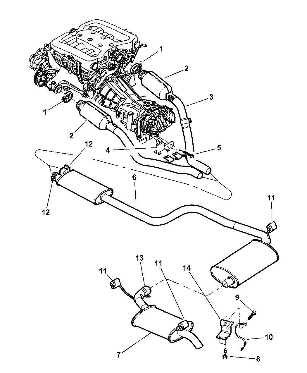 2000 Chrysler 300m Exhaust System Mopar Parts Giant Timing Belt