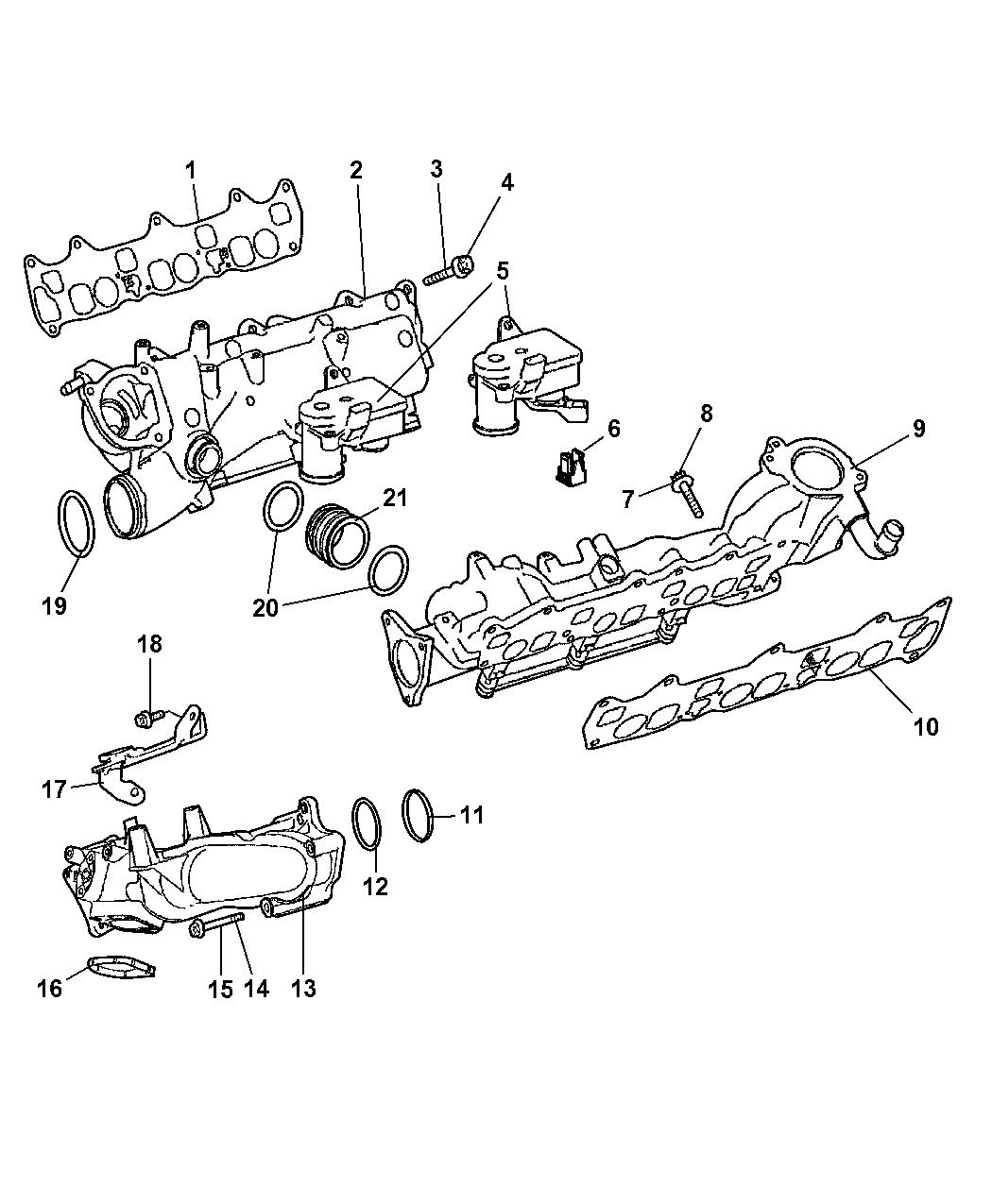 5175642ac Genuine Jeep Plenum Intake Manifold