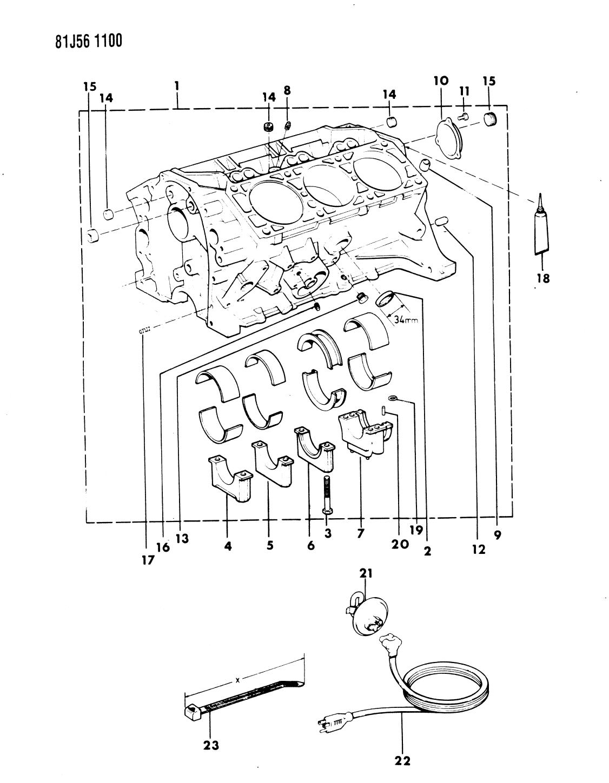 1986 Jeep Cherokee Block Engine Mopar Parts Giant 4 0l Bellhousing Diagram Thumbnail 1