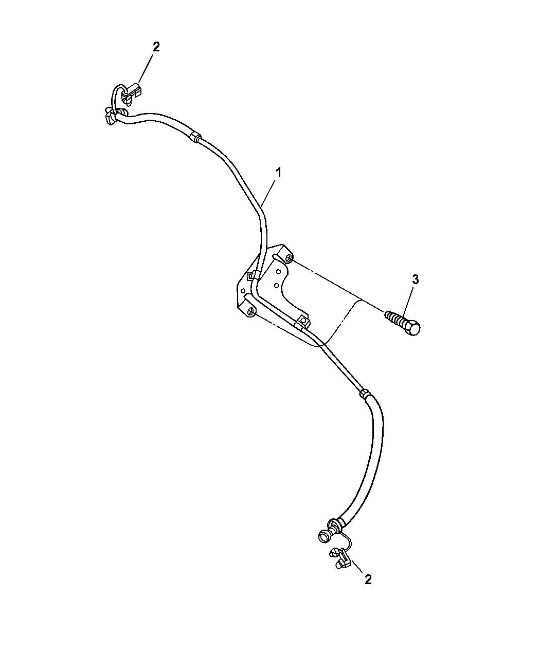 52110252ag genuine dodge tube fuel supply and vapor lines Dodge Caliber Fuel System Diagram 2005 dodge ram 1500 fuel lines, front