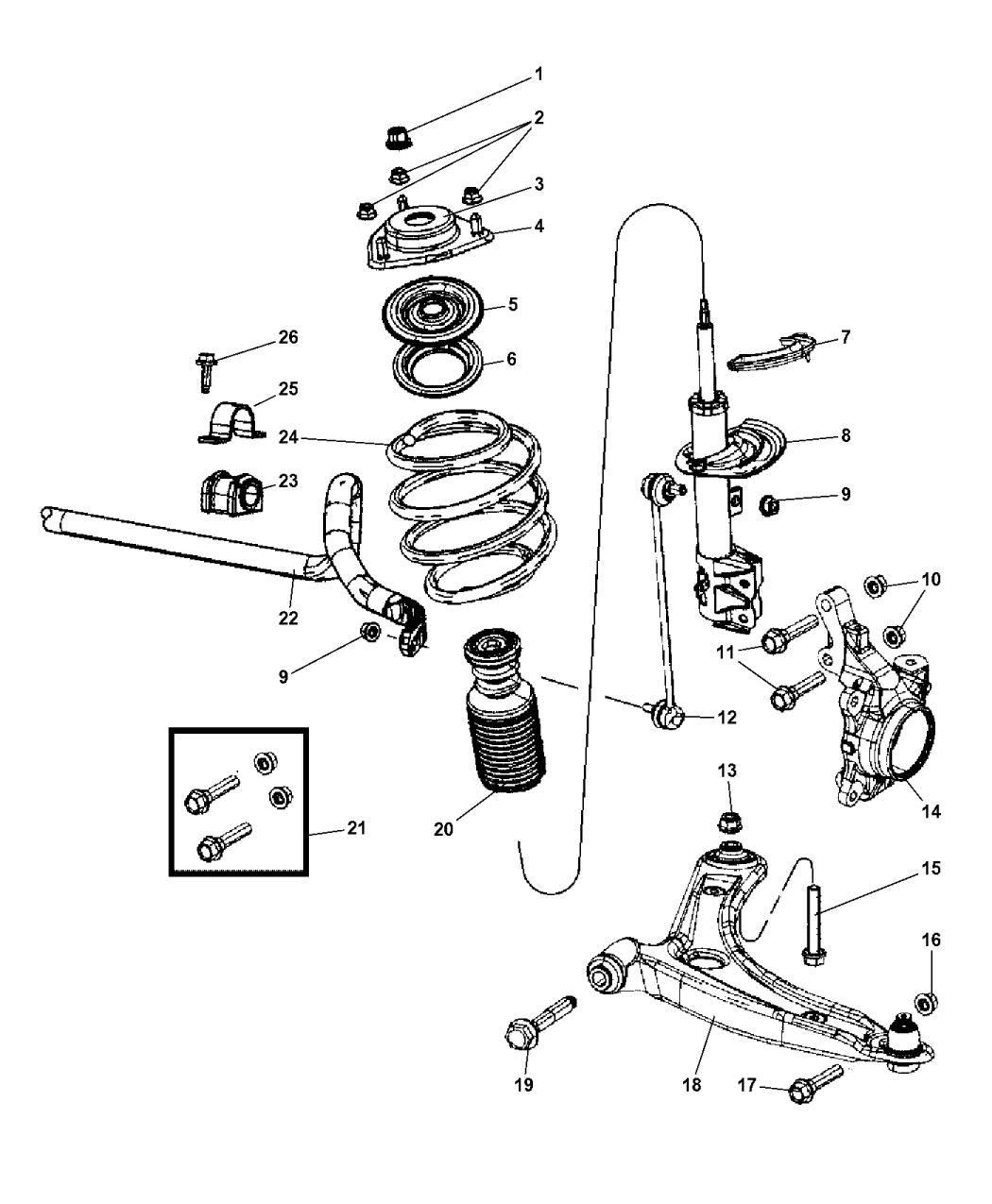 5105822aa genuine mopar isolator spring. Black Bedroom Furniture Sets. Home Design Ideas