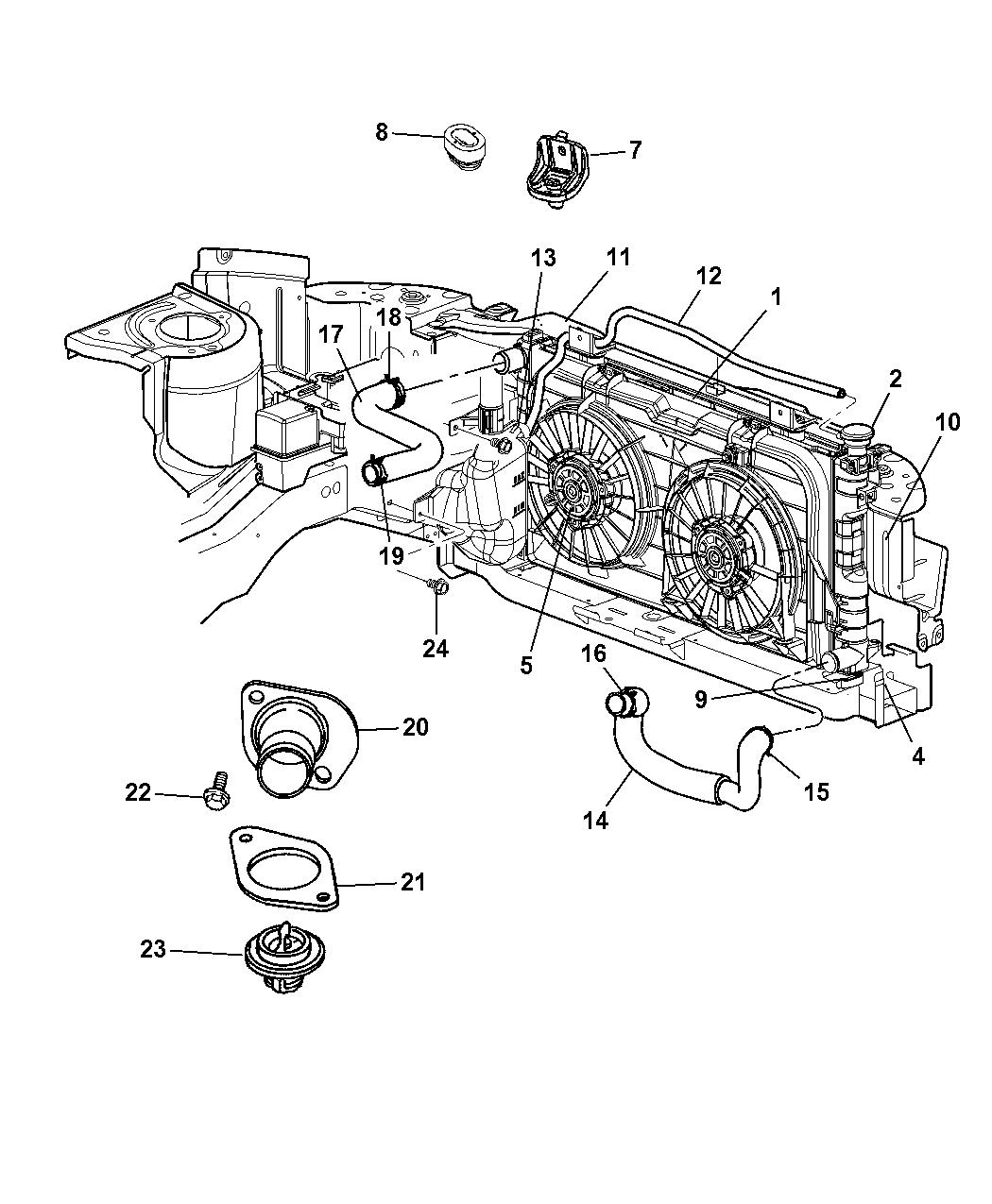 4881100AG - Genuine Chrysler HOSE-RADIATOR OUTLET