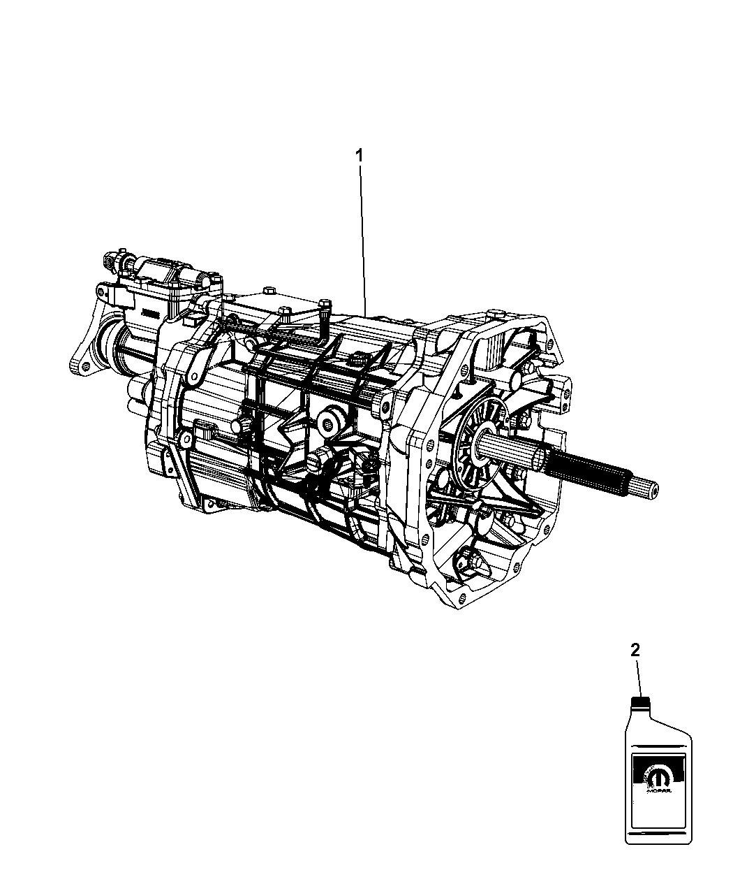 2009 Dodge Challenger Transmission / Transaxle Assembly of