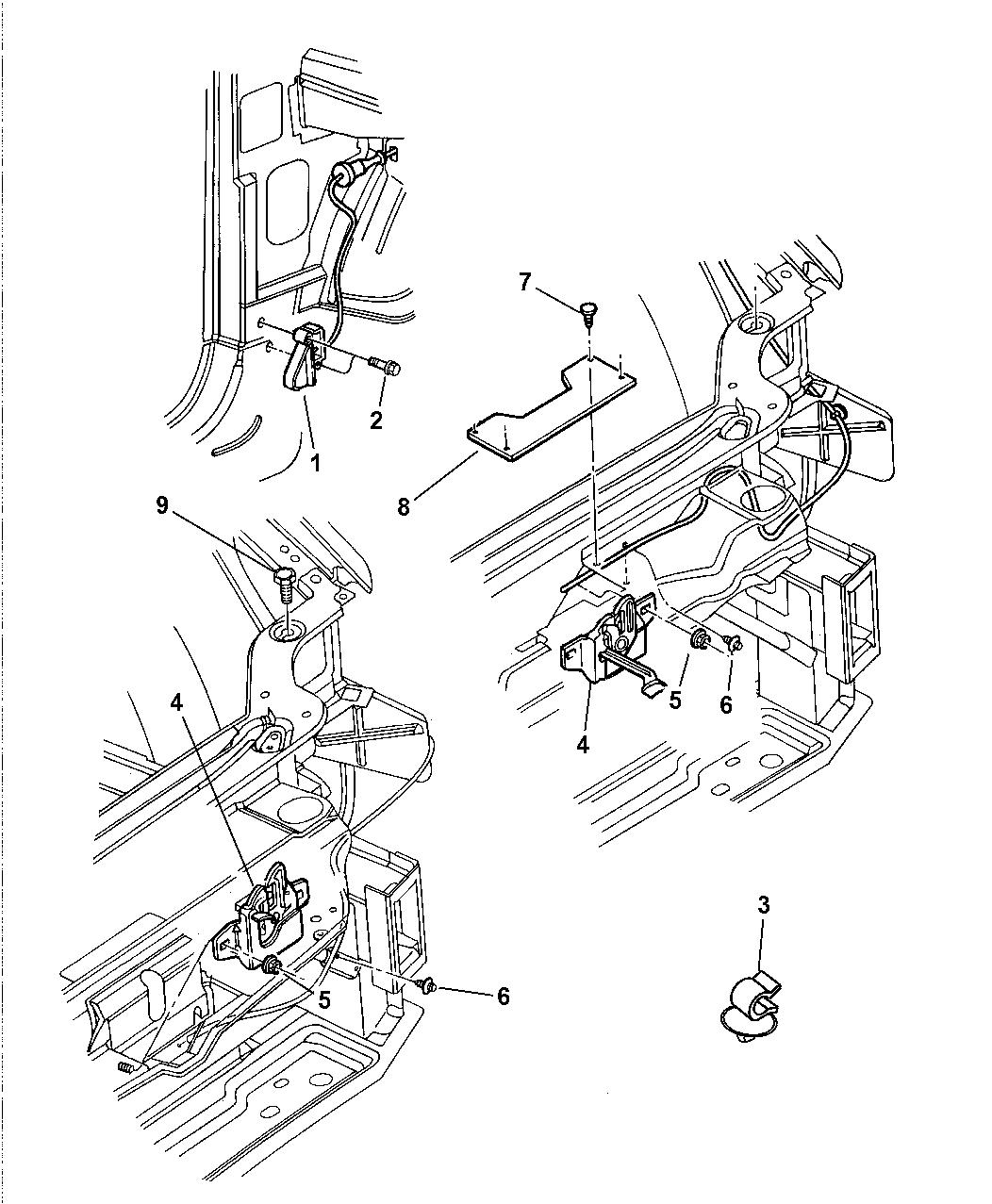 2002 chrysler 300m hood release  u0026 latch