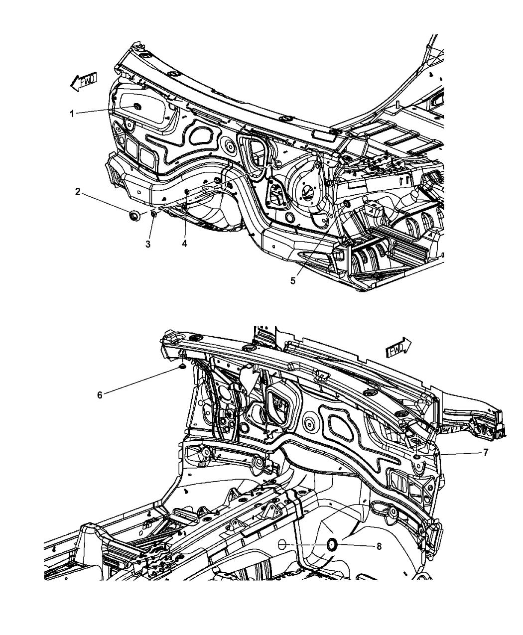 2017 Jeep Grand Cherokee Plugs Dash Panel