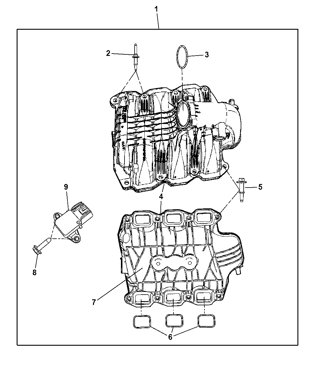 dodge 3 9 engine diagram intake manafold