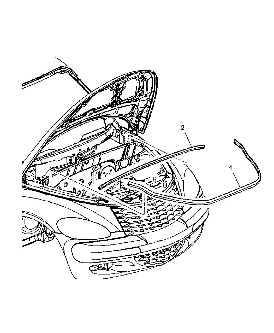 2001 Chrysler PT Cruiser Seals & Weatherstrips, Hood