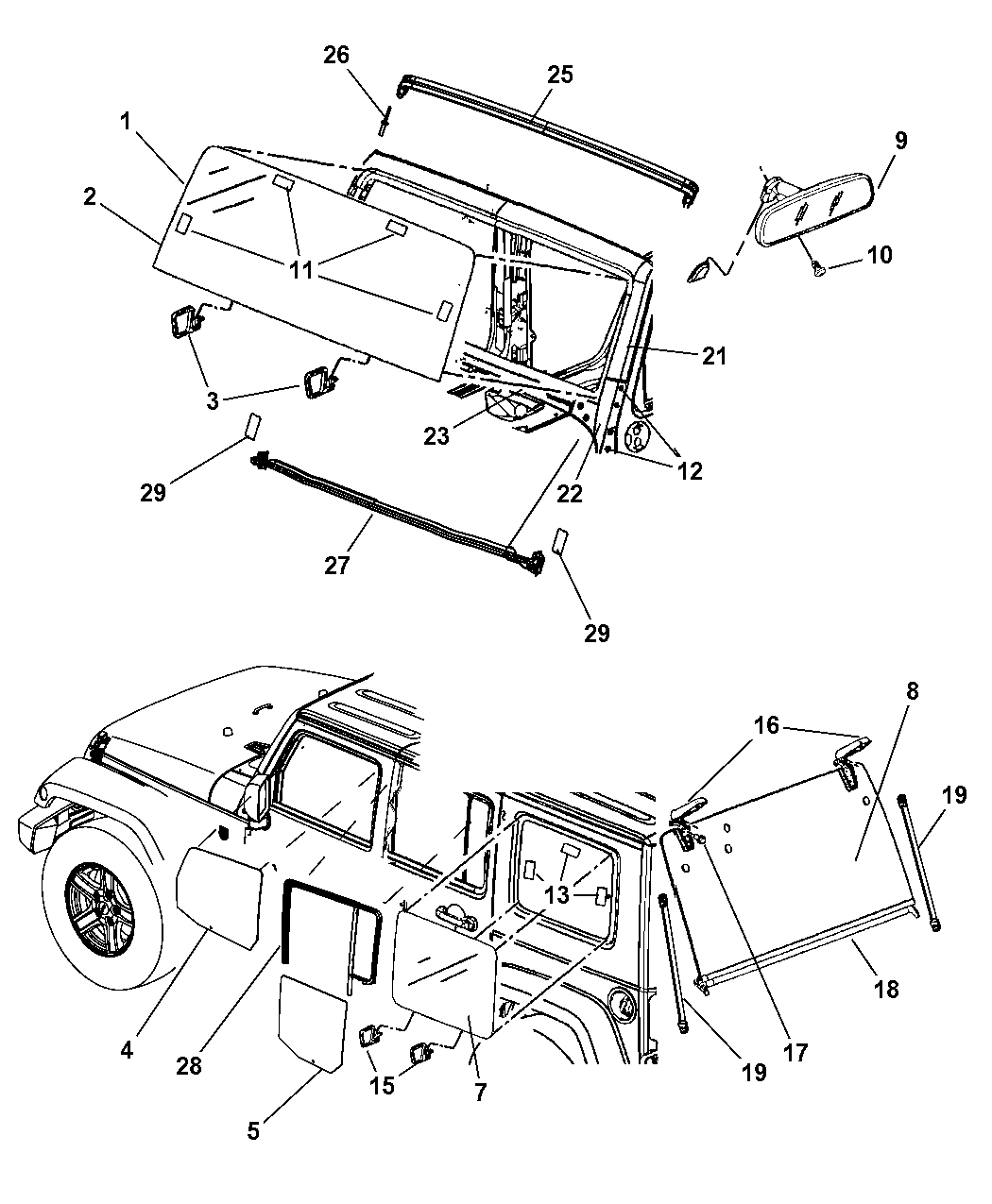 6104370aa Genuine Jeep Bolt Hexagon Head