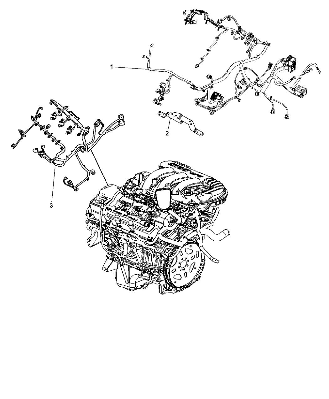 68104102AG - Genuine Mopar WIRING-ENGINE