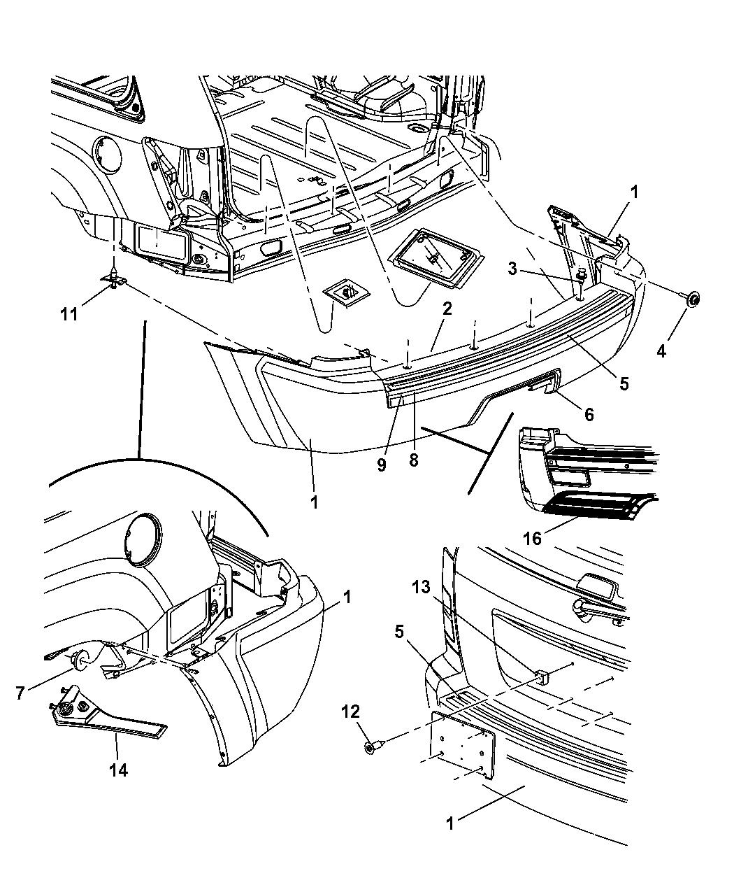 Mopar Retainer-Fascia 5159079Aa