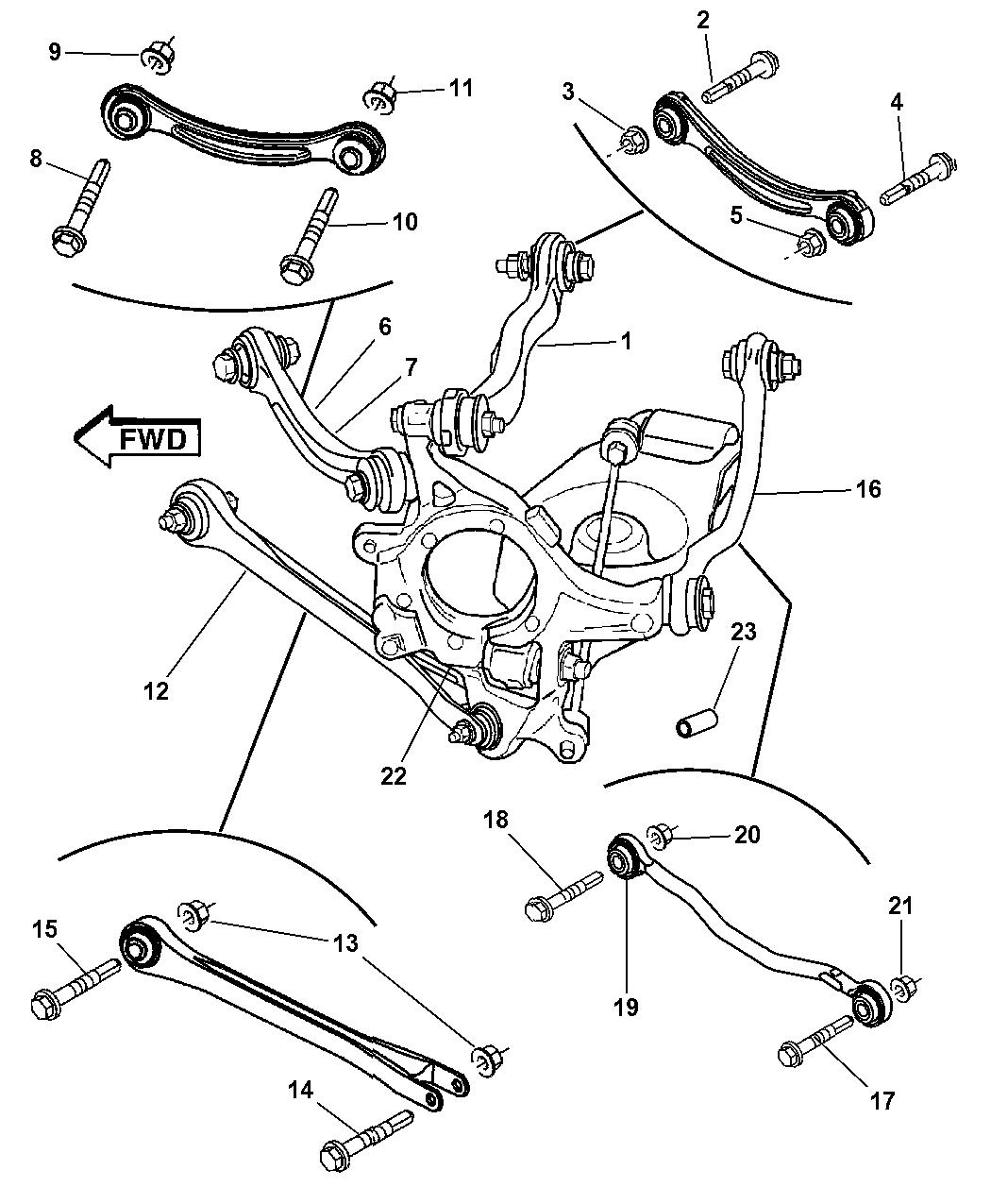 2005 Chrysler 300 Suspension Rear Links Knuckles Fuse Box Manual