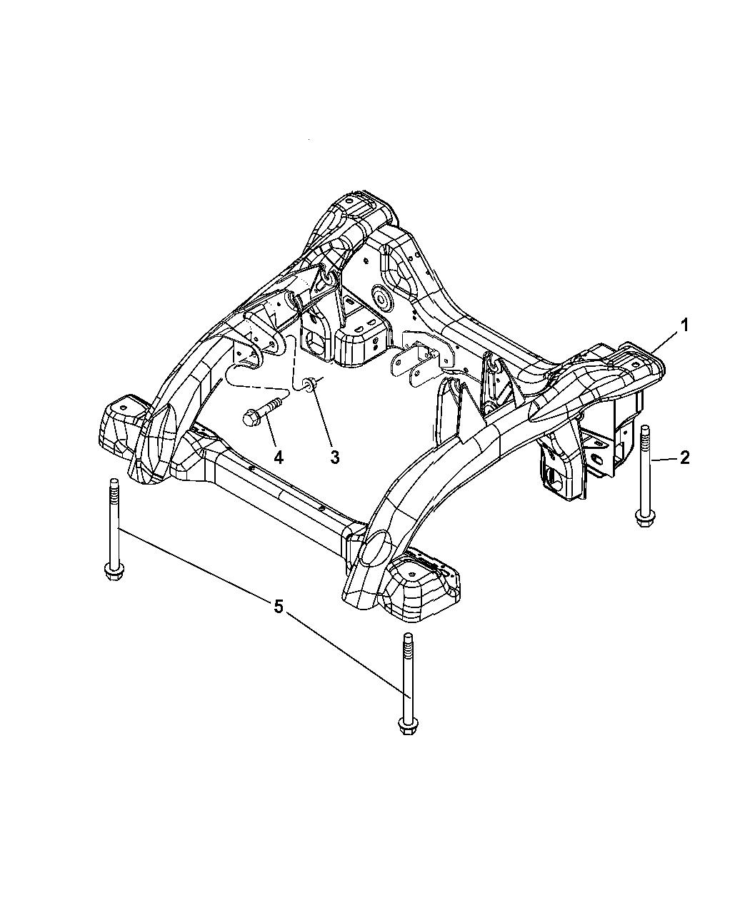 2008 Jeep Grand Cherokee Cradle  Front Suspension