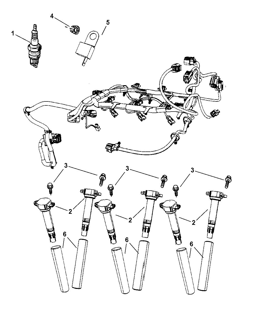 2007 chrysler pacifica spark plugs coils mopar parts giant rh moparpartsgiant com