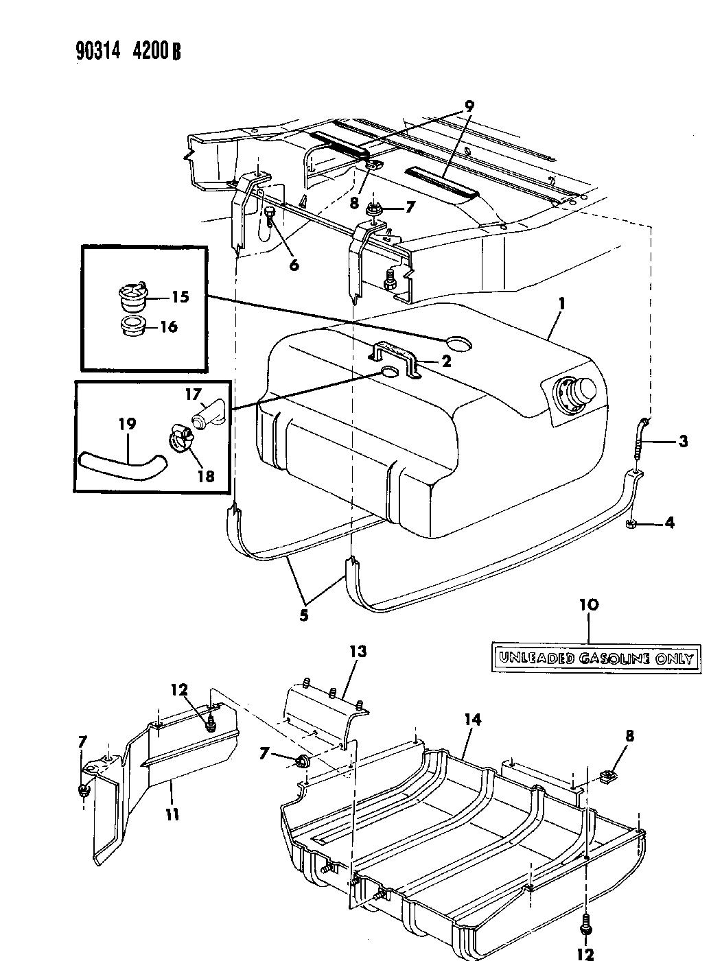 1993 Dodge Ramcharger Fuel Tank - Thumbnail 2