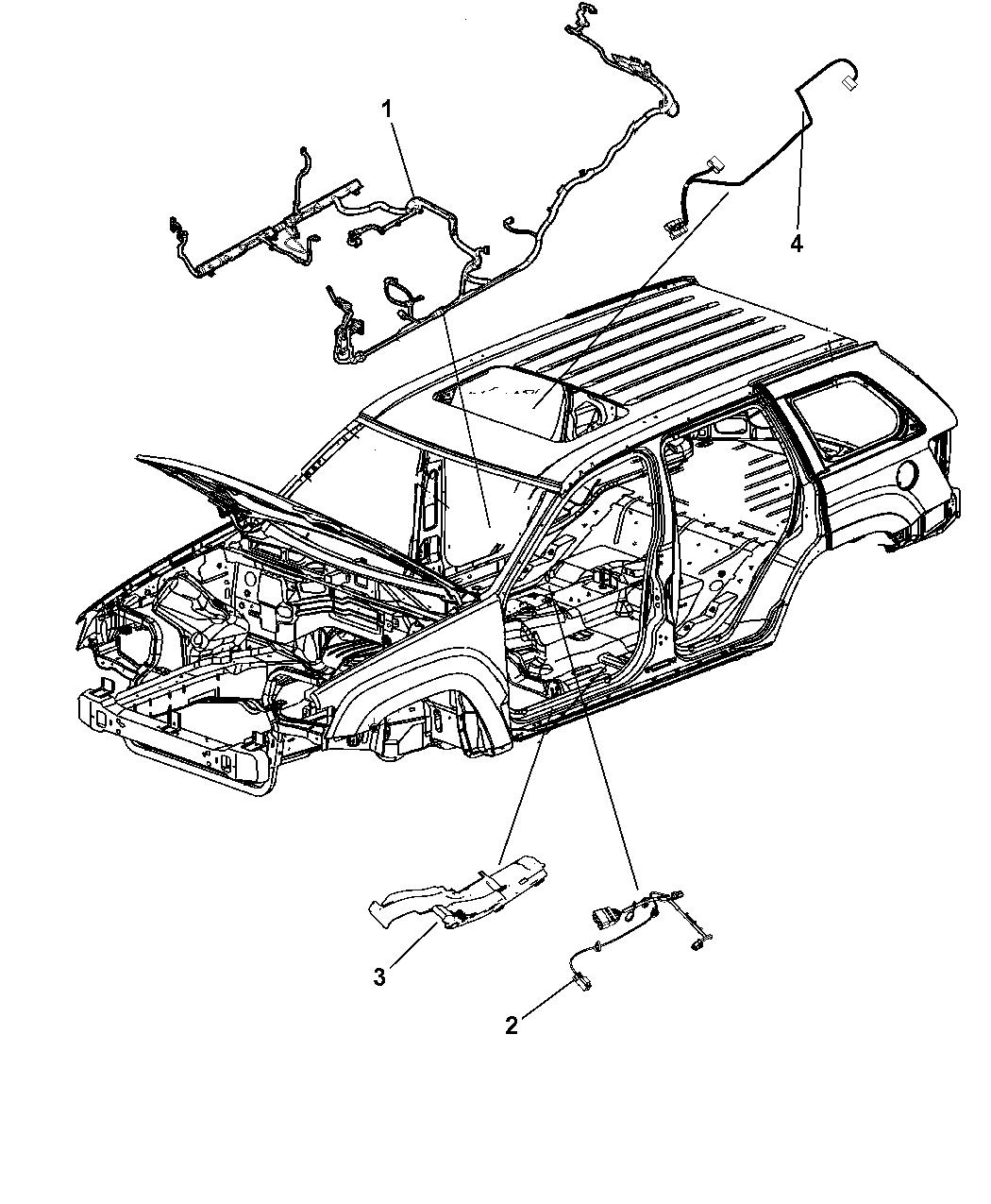 2011 Dodge Durango Wiring Body
