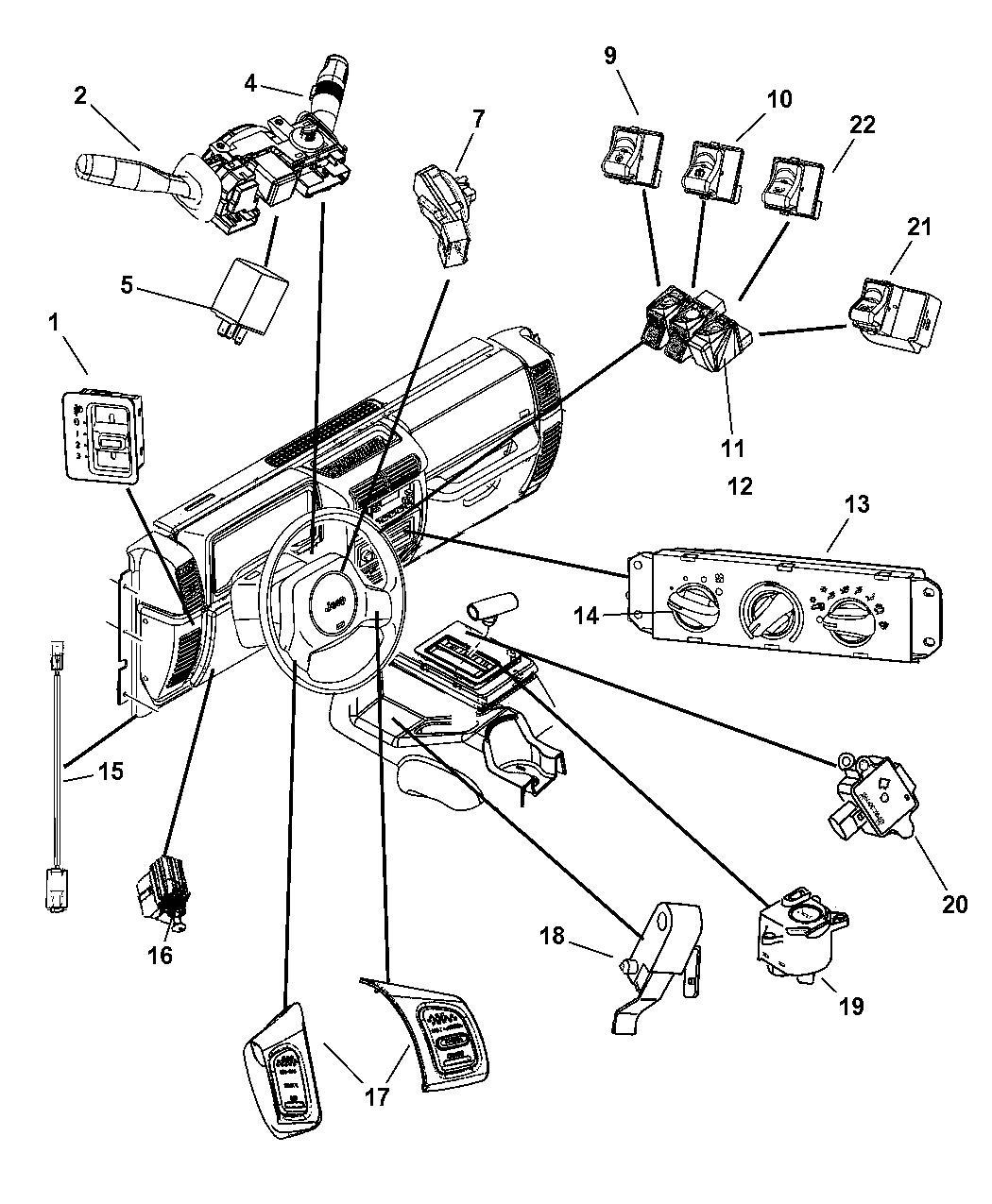2001 Jeep Wrangler Heater Control Panel Wiring Diagram