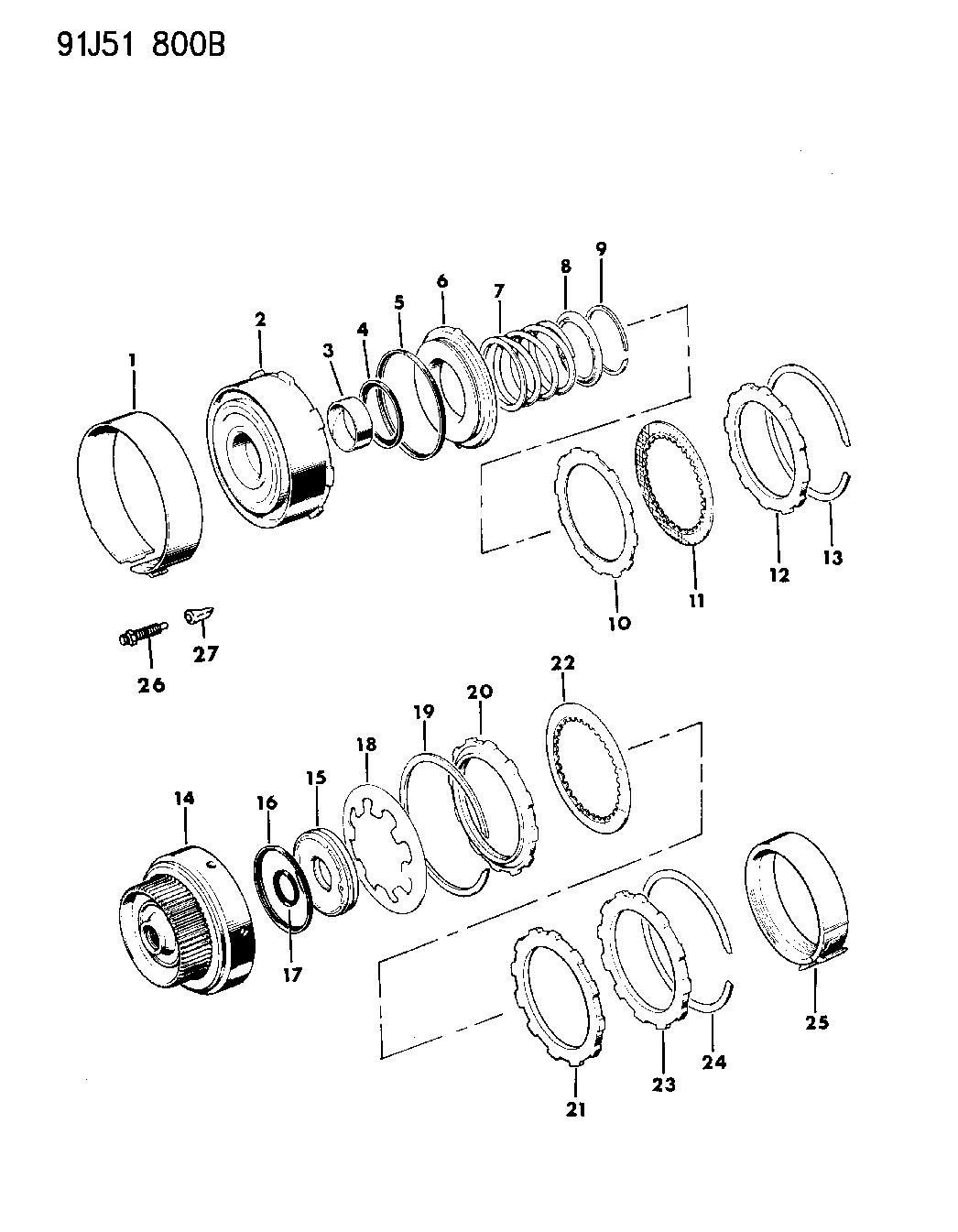 1991 Jeep Wrangler Clutch, Front & Rear - Mopar Parts Giant