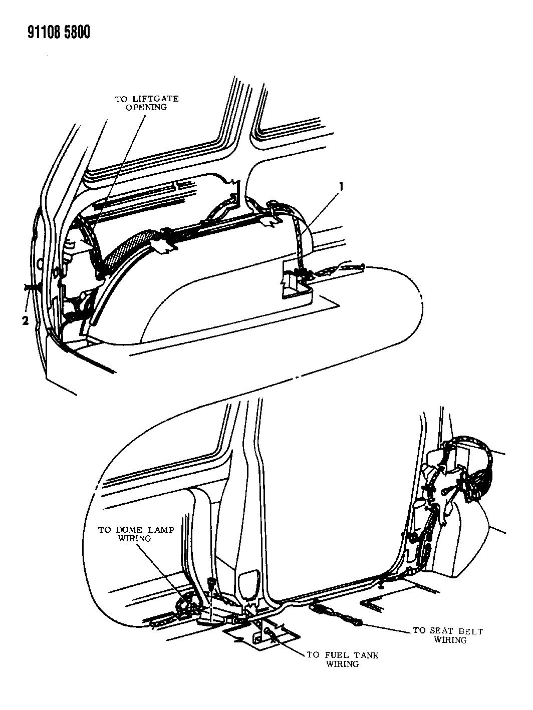 1991 Dodge Grand Caravan Wiring Body Accessories