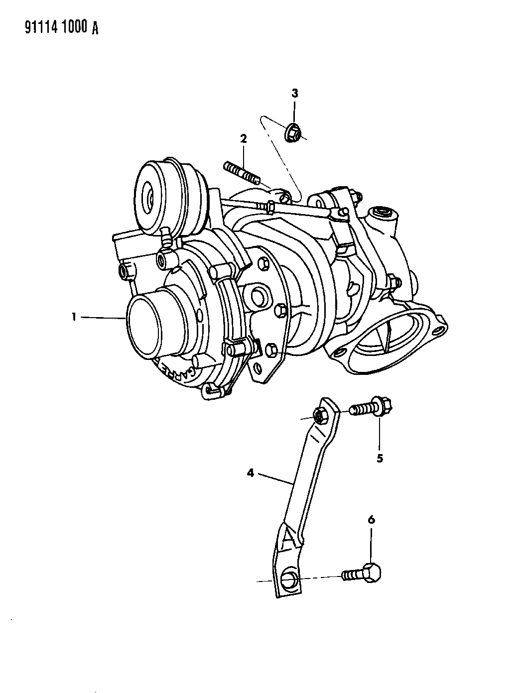 1991 dodge shadow turbo charger