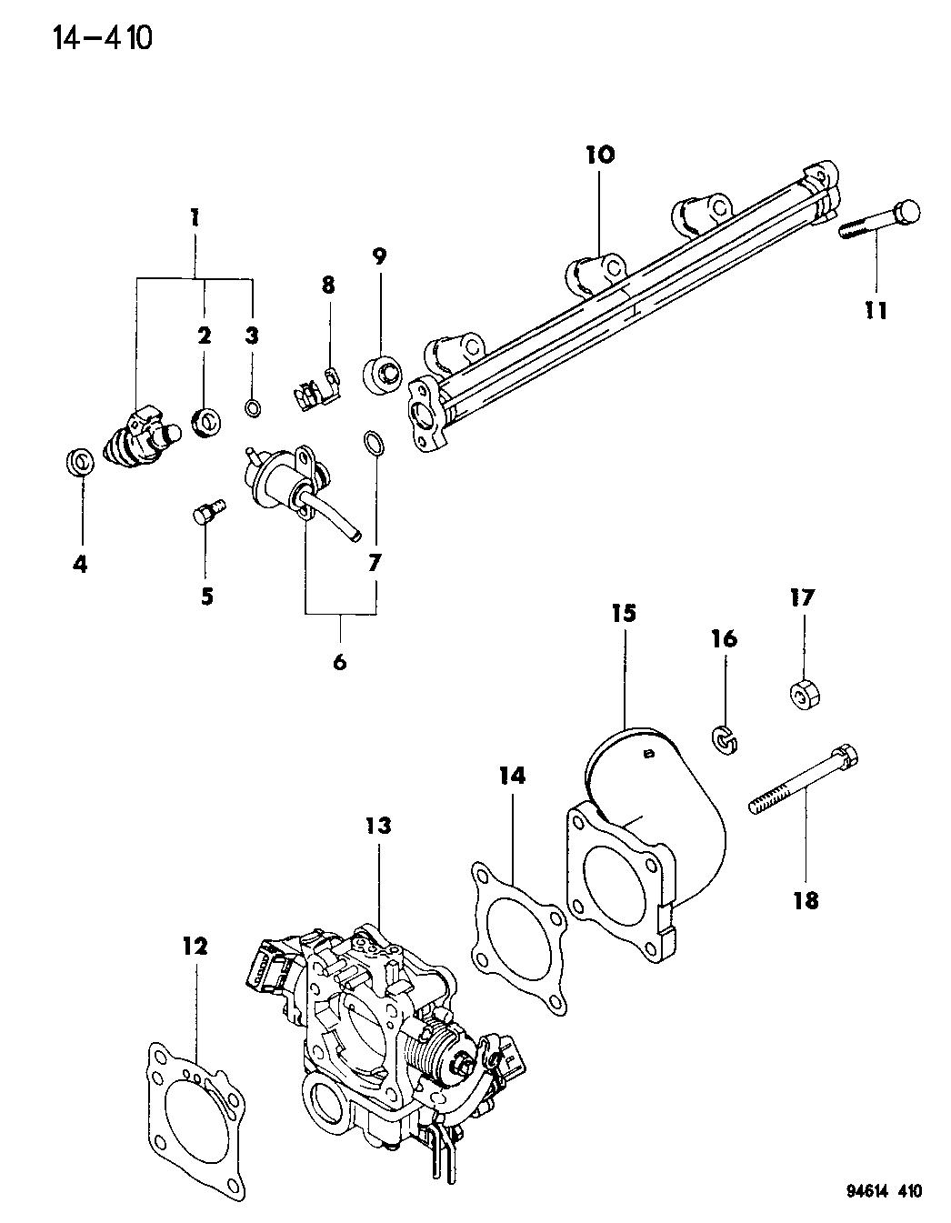 MD302262 - Genuine Mopar GASKET THROTTLE BODY AIR F