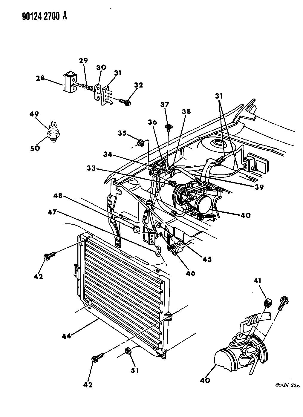 1990 Dodge Spirit Plumbing - A/C & Heater - Thumbnail 2