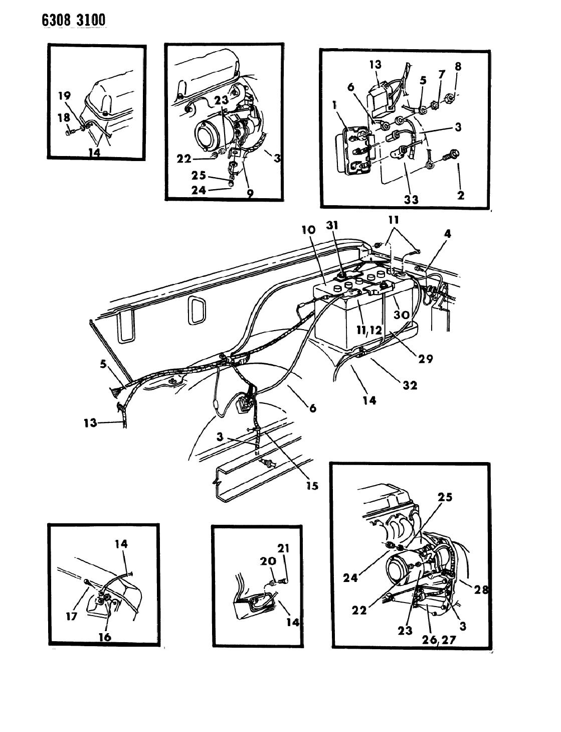 1987 Dodge D150 Wiring - Battery & Starter - Mopar Parts Giant