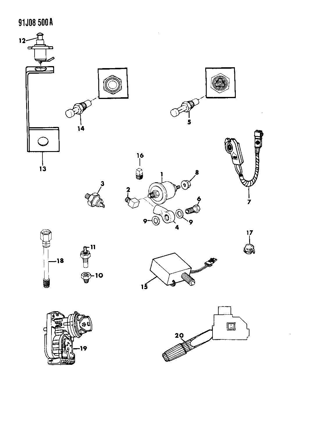 56027012 genuine mopar sensor temperature gauge jeep cherokee radio wiring diagram 1993 jeep cherokee switches & sending units