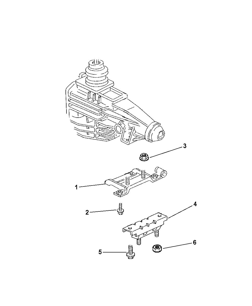 Manual Trans Transaxle Mount-Engine Mount Bracket Rear Mopar 52019641