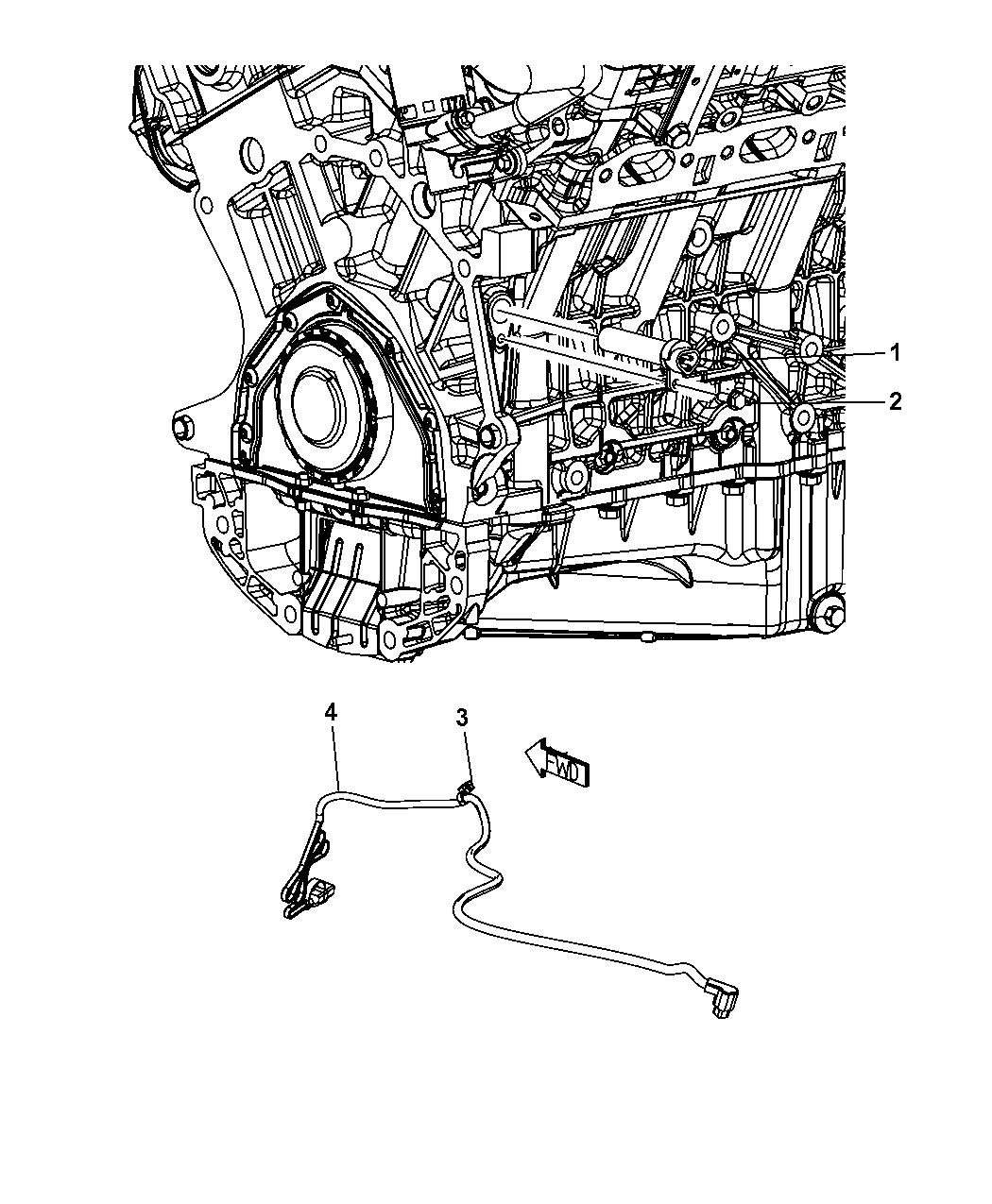 2009 Dodge Journey Engine Cylinder Block Heater - Thumbnail 4