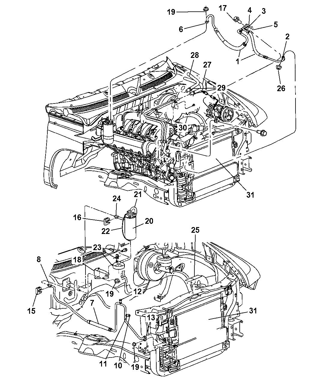 55056350AA - Genuine Dodge BRACKET-ACCUMULATOR RETAINING