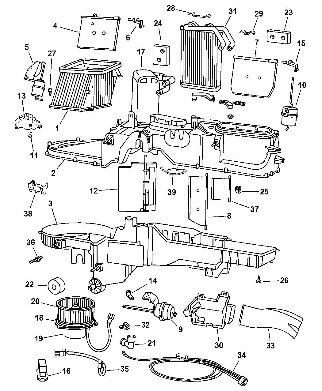 4746208ab Genuine Mopar Harness A C And Heater Vacuum 33 Dodge 2002 Engine Diagram Ram 2500 Quad Club Cab Air Conditioner Unit