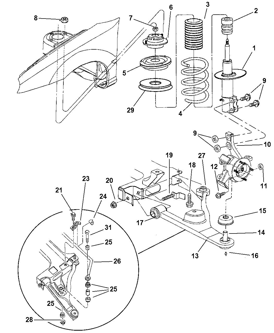1997 Dodge Neon Suspension - Front - Mopar Parts Giant