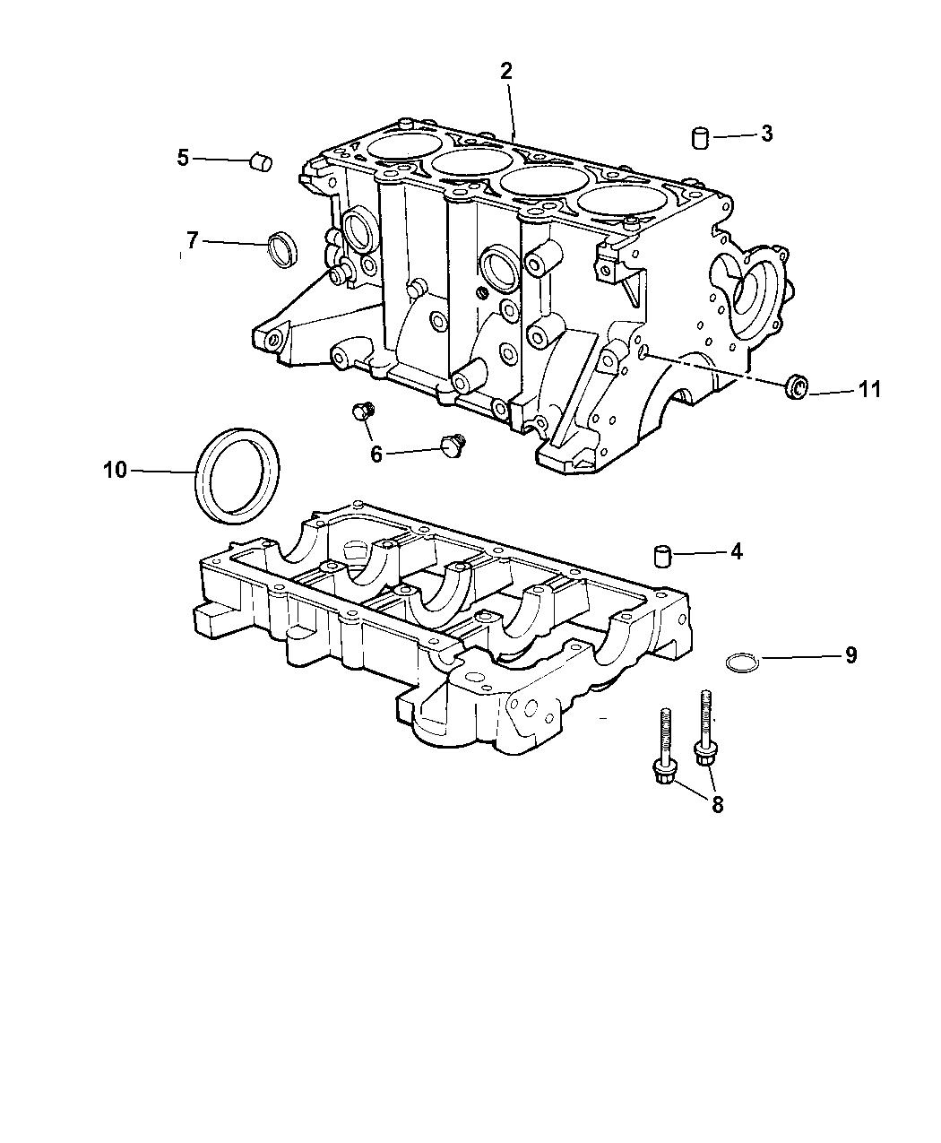 2004 Chrysler PT Cruiser Cylinder Block & Related Parts - Thumbnail 1