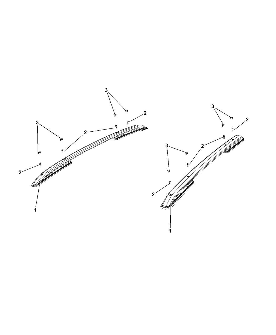 Genuine Mopar Roof Rail Cap 5VX96TZZAA