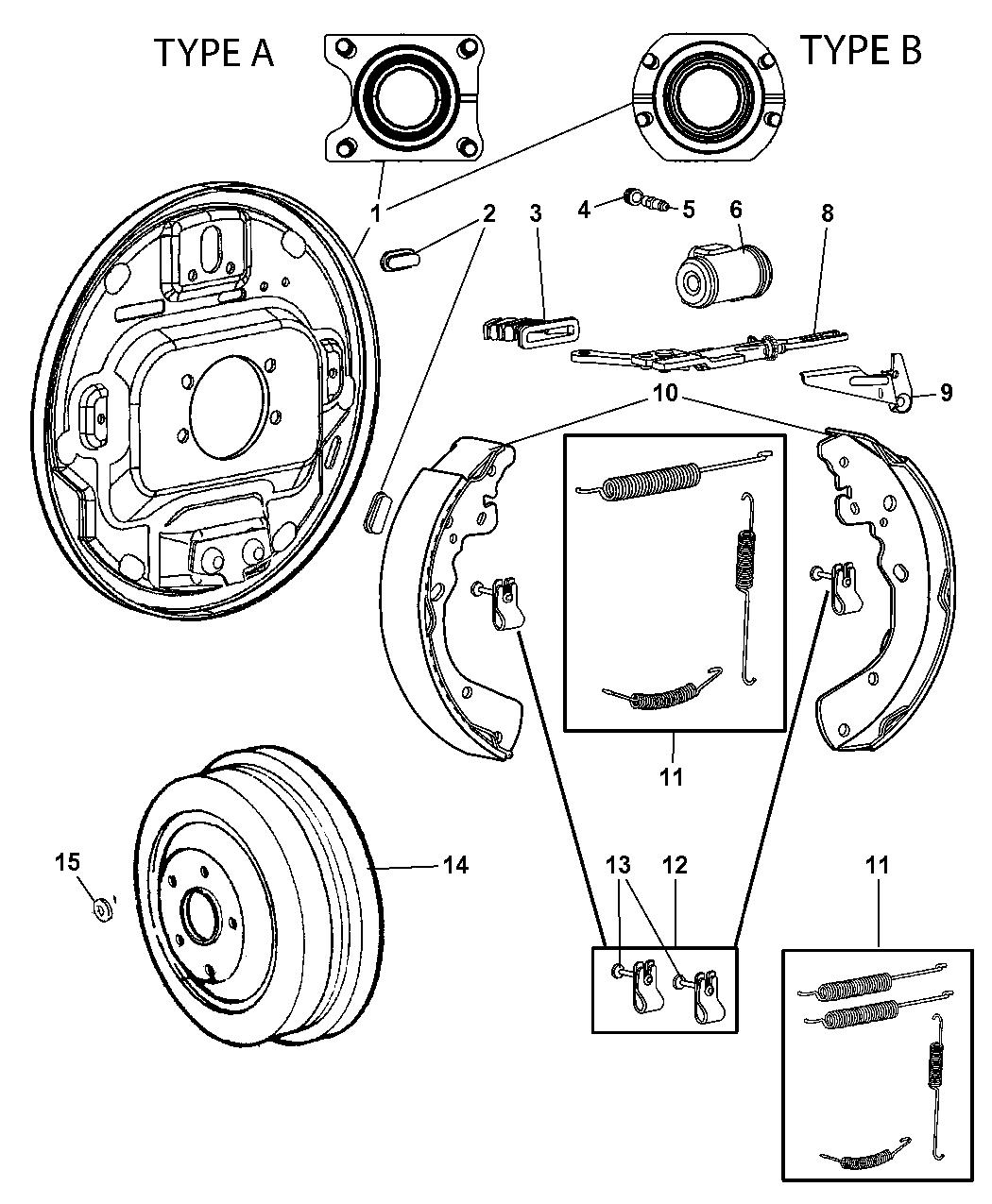 5159120ac - genuine dodge lever-rear wheel brake adjust  mopar parts giant