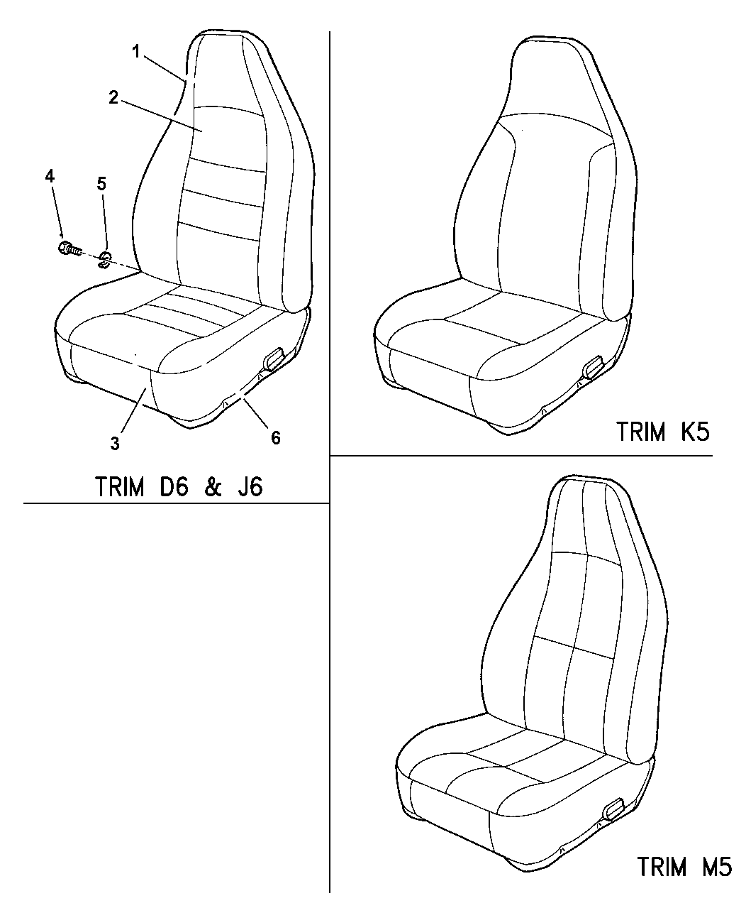 1998 Jeep Wrangler Front Seats