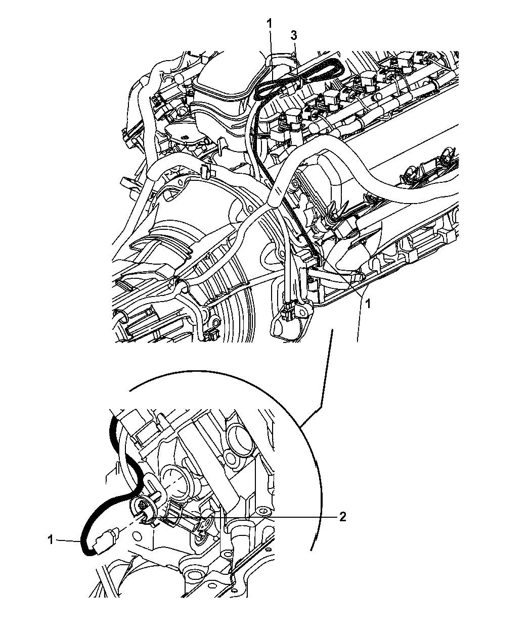 4801646aa - genuine jeep wiring-engine block heater 2004 jeep grand cherokee engine diagram water pump