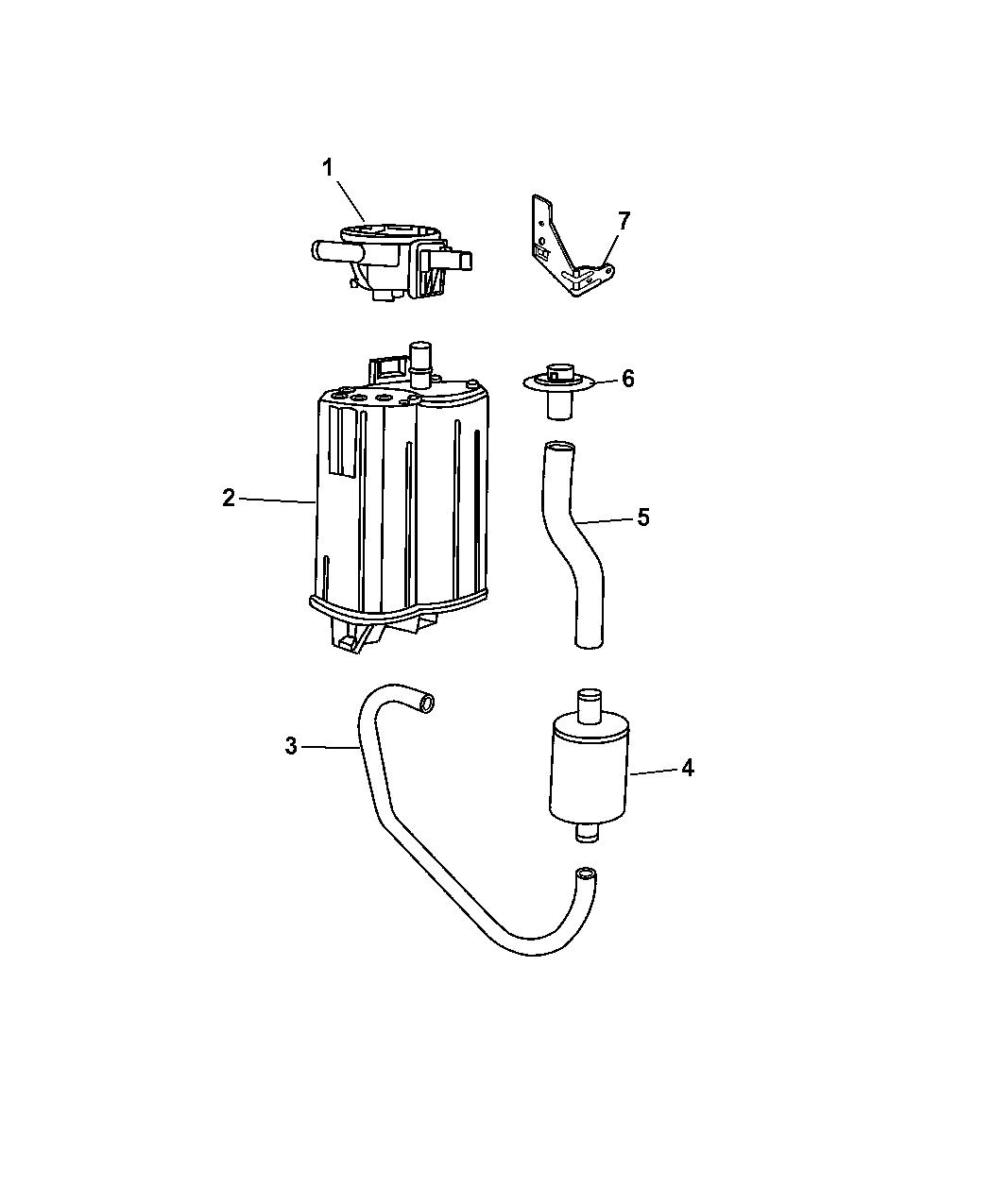 2006 Dodge Durango Vacuum Canister & Leak Detection Pump