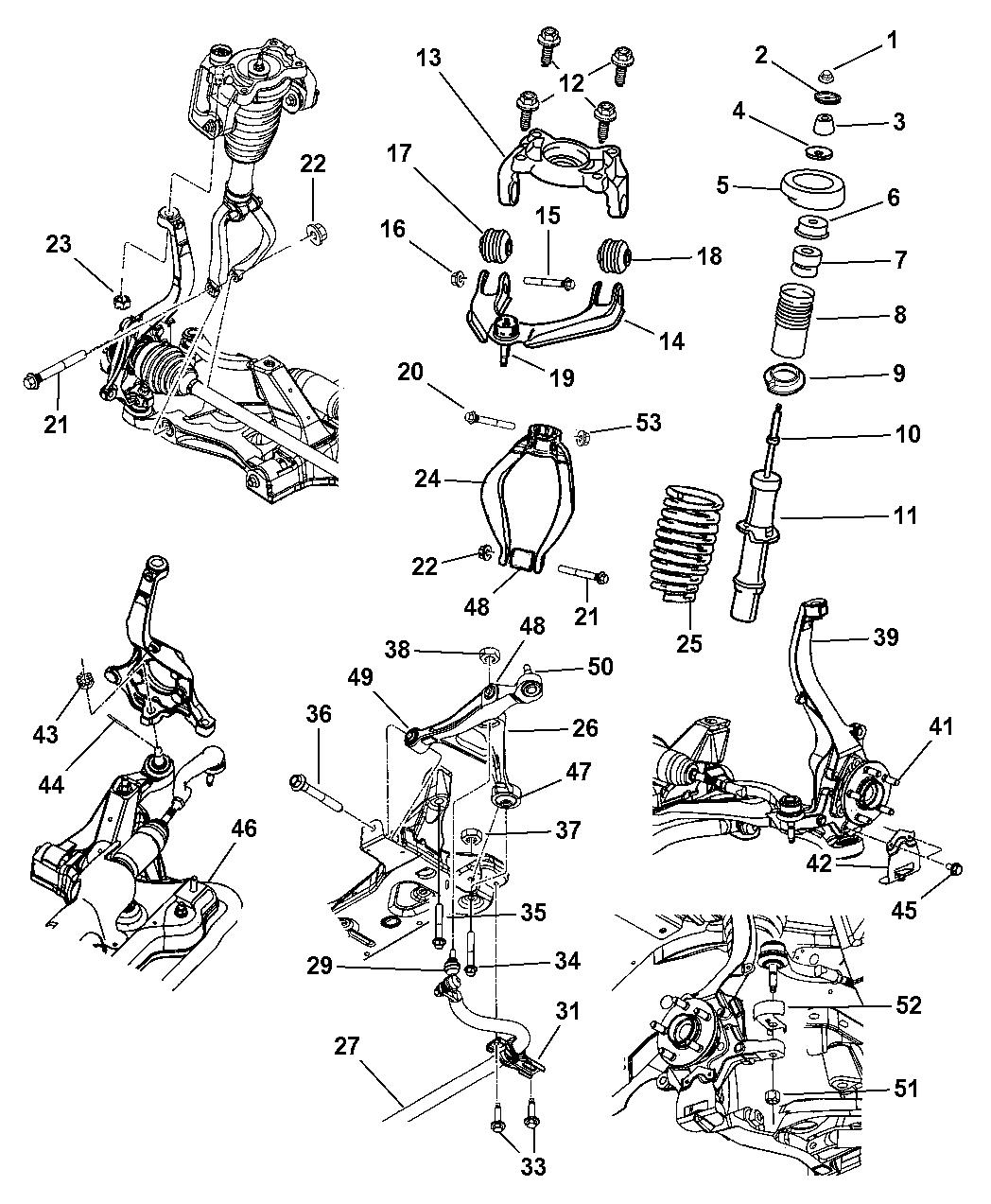 2002 dodge stratus sedan suspension - front