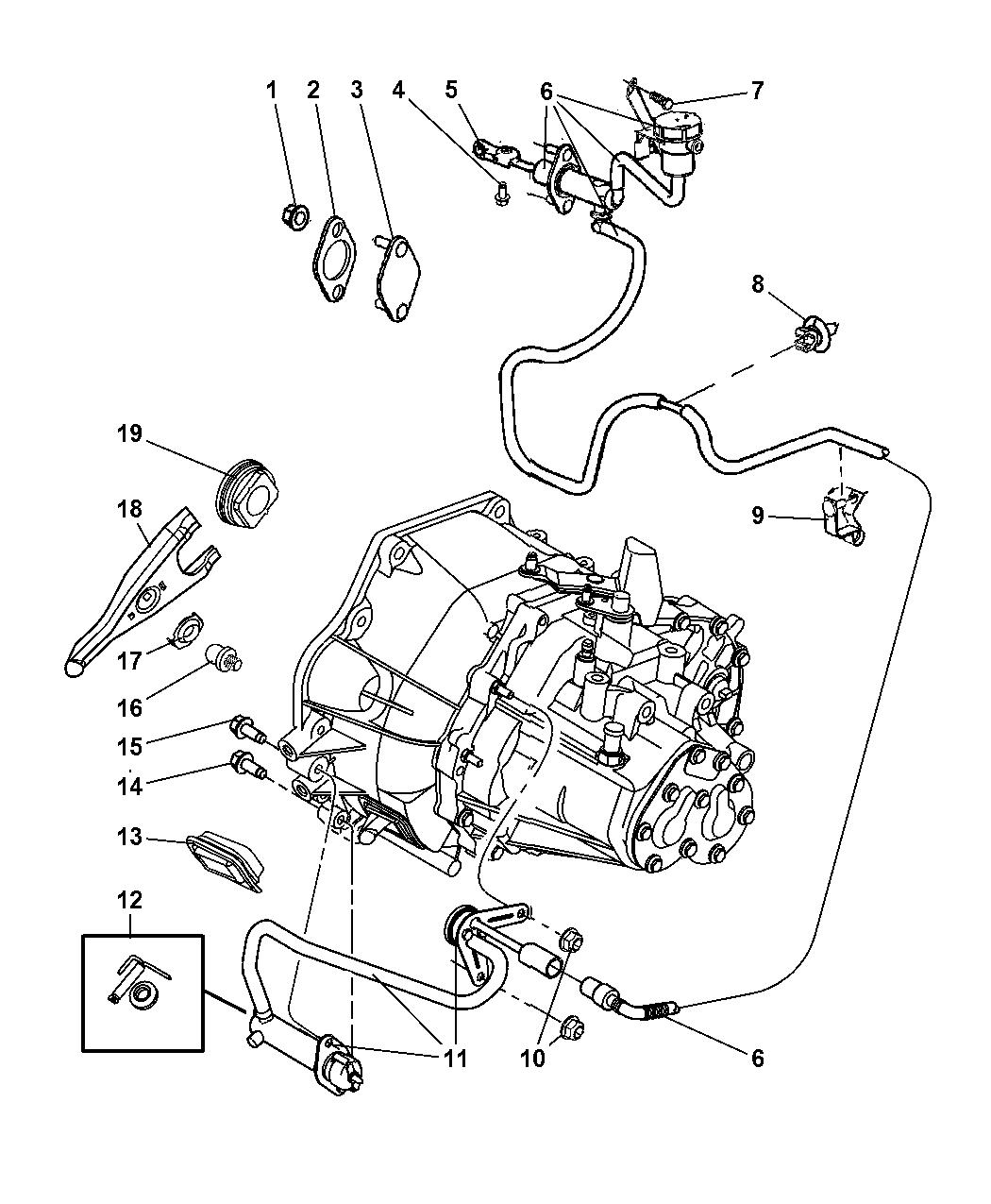4668331ab Genuine Mopar Cylinder Hydraulic Clutch System Diagram 2002 Dodge Neon Linkage