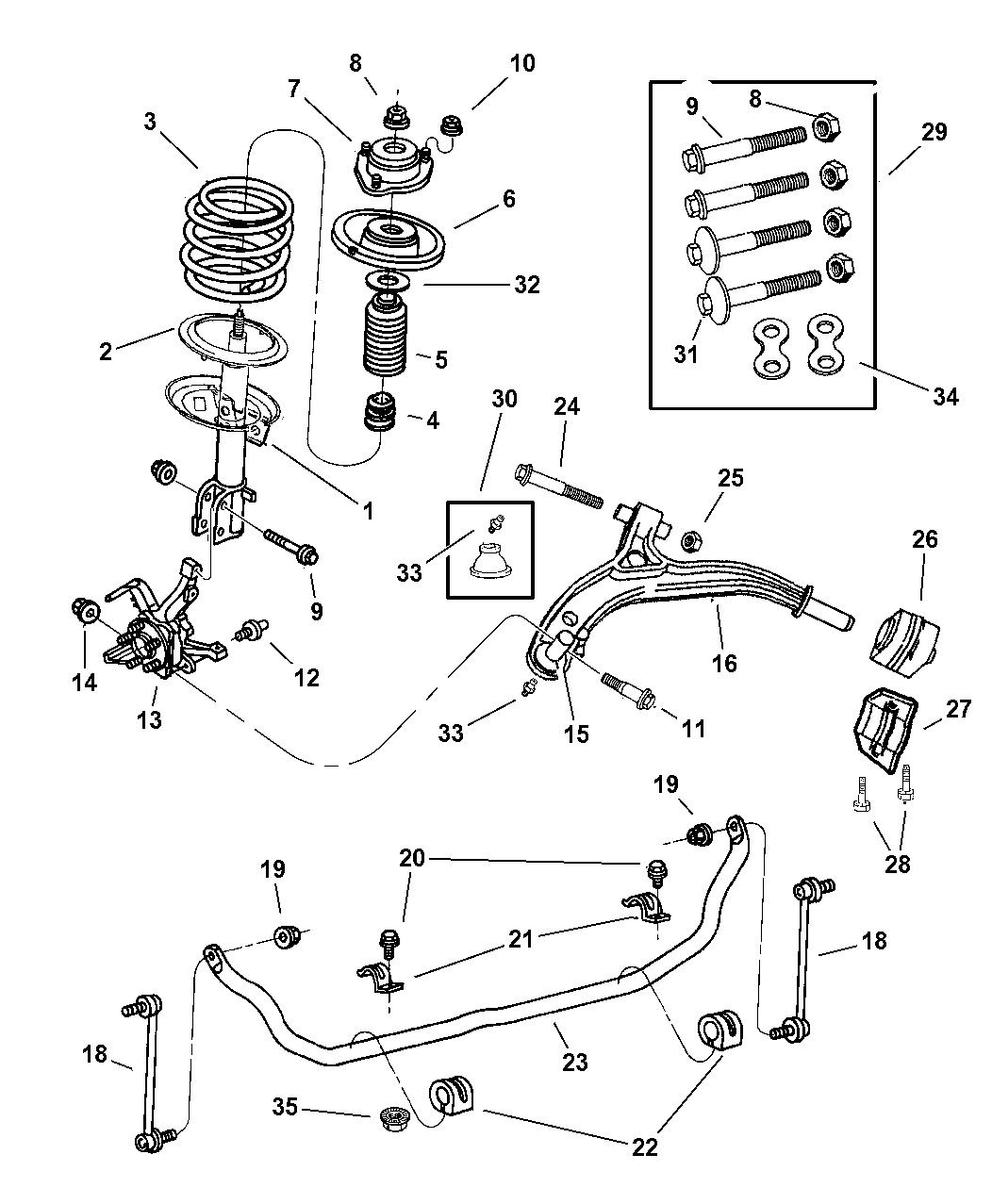 1999 Dodge Caravan Suspension