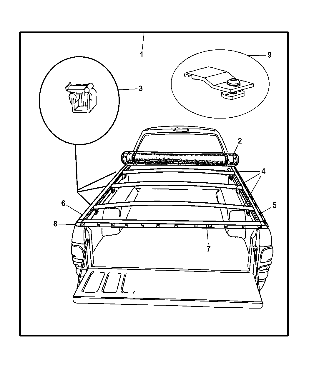 Genuine Dodge CLAMP-TONNEAU