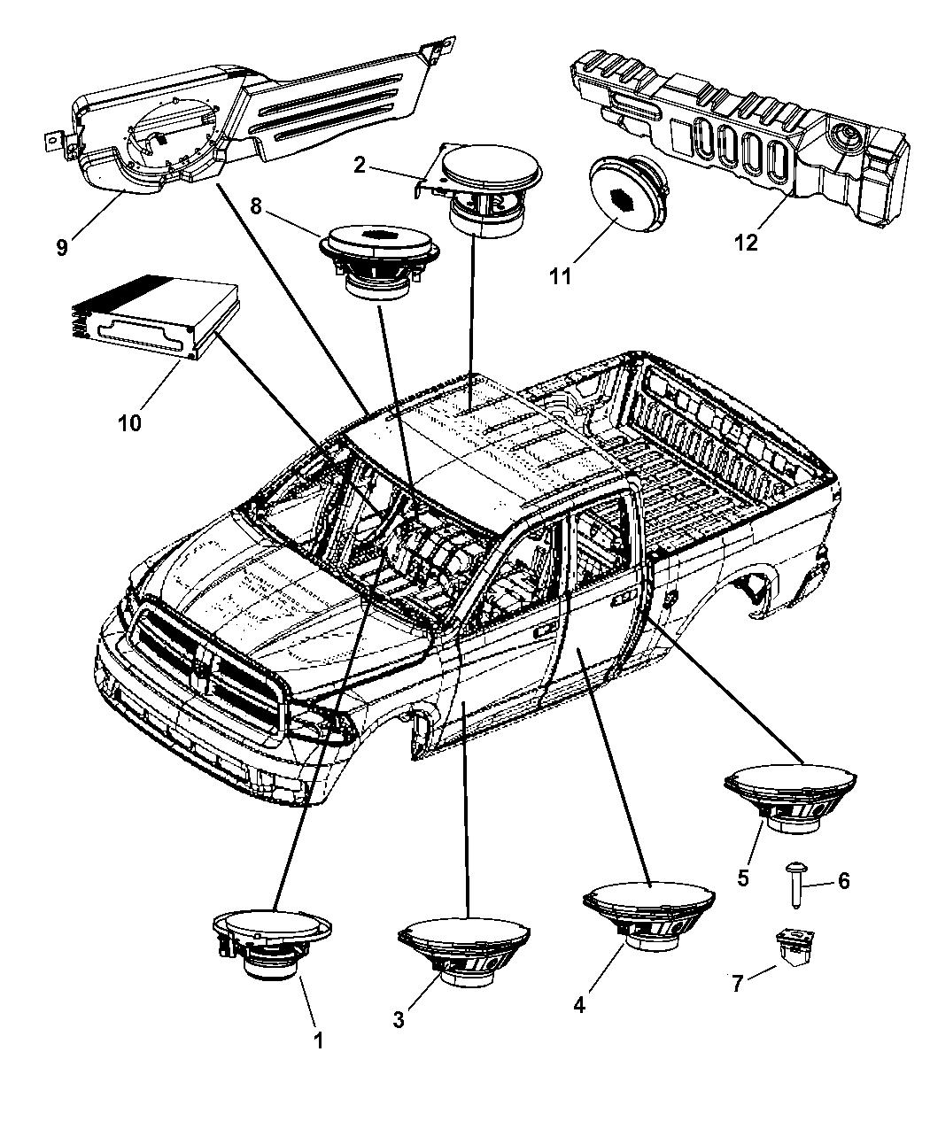 5064418AN  Genuine Mopar AMPLIFIER