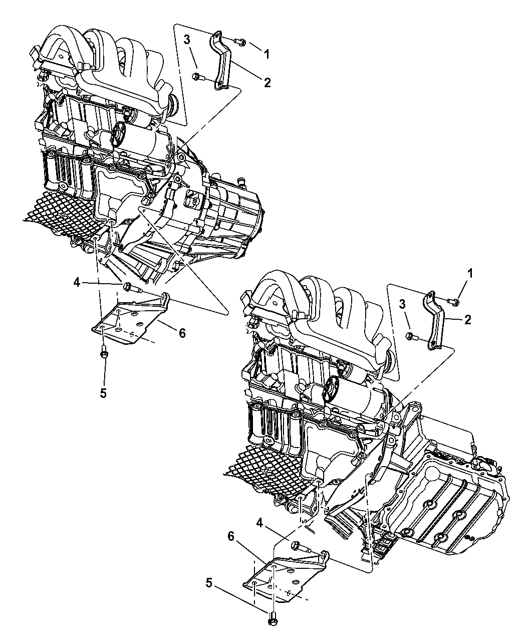 2004 dodge neon support - structural collar & intake manifold - thumbnail  1  2  engine mounting support
