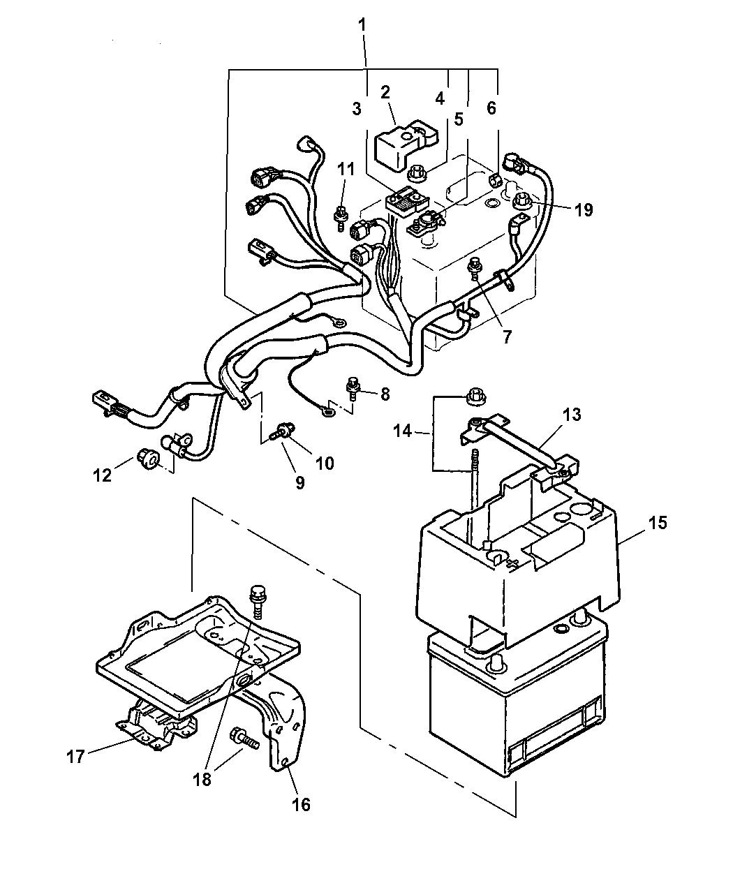wiring a transformer diagram wiring a bat diagram mr583277 - genuine chrysler cable/bat-battery